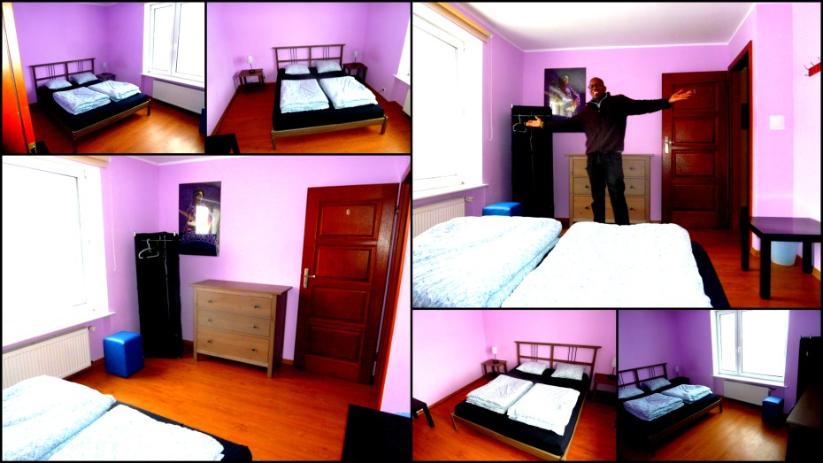 At the Mamas & Papas Hostel in Gdansk, Poland, in the Hendrix room, a.k.a, Purple Haze. A long stopover here.