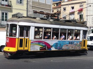 A classic trolley in Lisbon