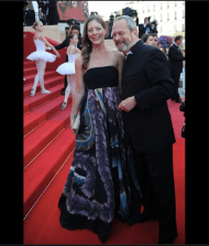 Terry Gilliam and daughter, Amy Gilliam. Cannes 2009 www.leila-hafzi.com collaboration with Mike the Athens. Los Angeles CA, United States