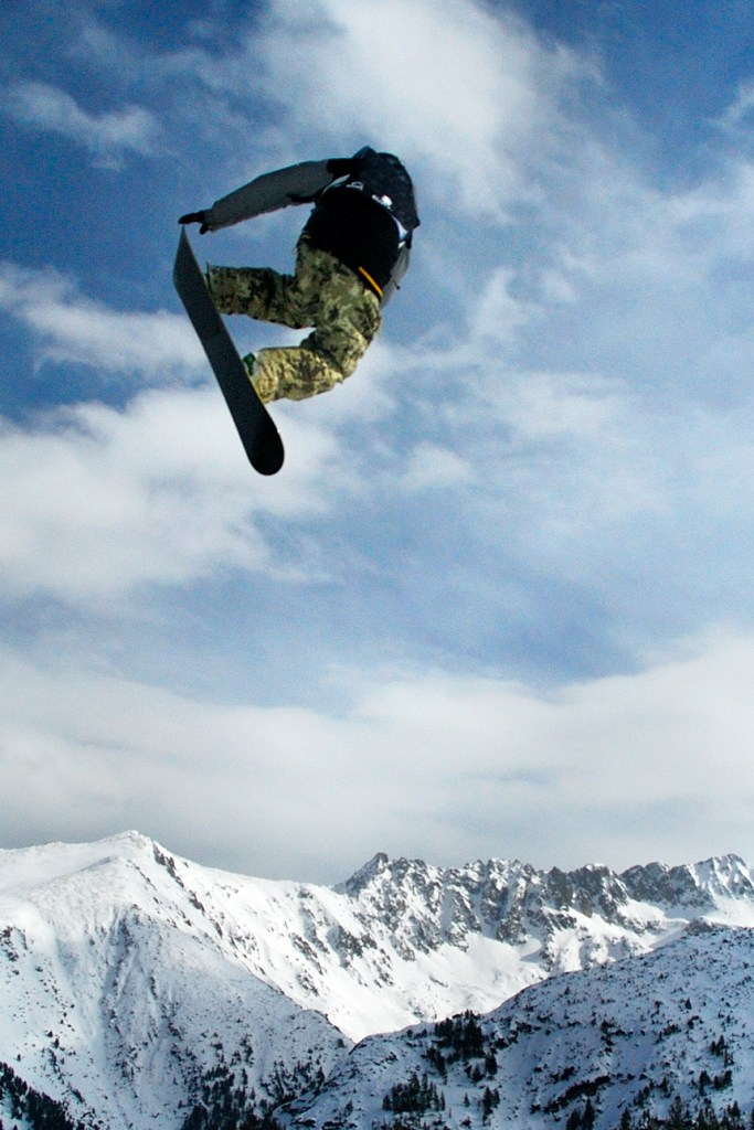 Snowboarder Jumping