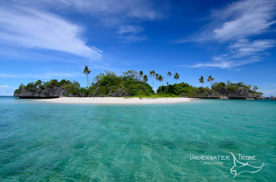 White sand beach Raja Ampat