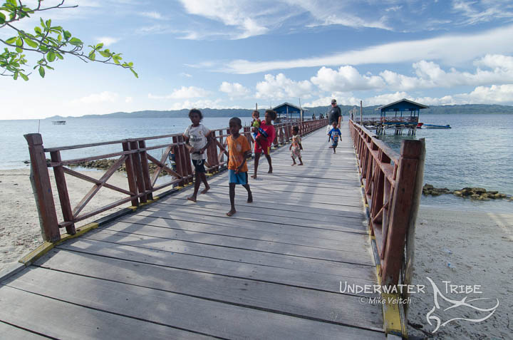Kids on Arborek Pier