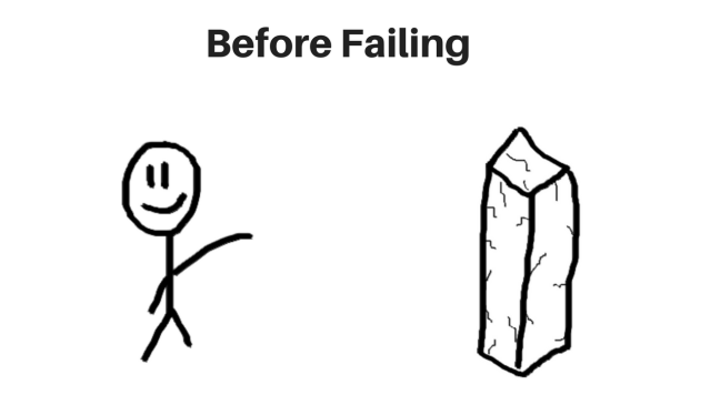 Mike Vestil before overcoming fear of failure