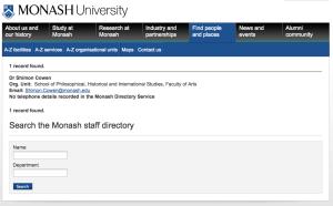 20120218 Dr Shimon Cowen in Monash University staff directory