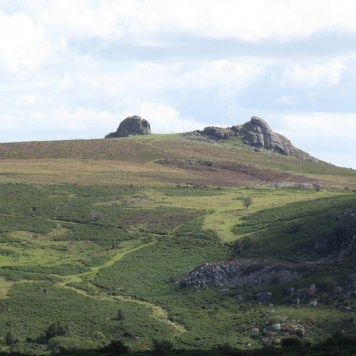 Looking back at Hound Tor