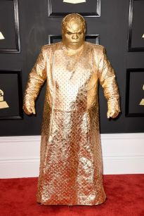 """CeeLo Green in a gold futuristic style """"munk-esque"""" bodysuit - Photo Credit: Frazer Harrison / Getty Images (All Rights Reserved)"""