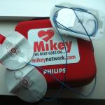Portable MIKEY (AED) used to save infant