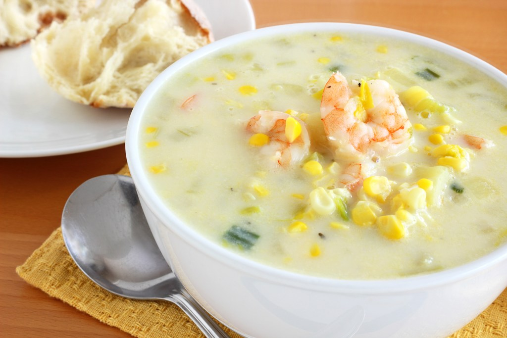 corn potato shrimp chowder recipe