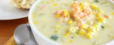 corn potato shrimp chowder recipe