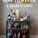 How To Style A Bar Cart Mikey S In My Kitchen