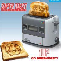 商品化、熱烈希望!ドット絵トーストが作れる「スーファミ」型トースター