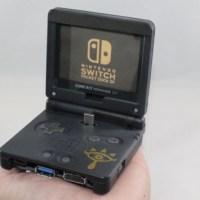 コンパクトで便利そう!ゲームボーイアドバンスSPを改造して作られた、ニンテンドースイッチ用ドックがすてき!