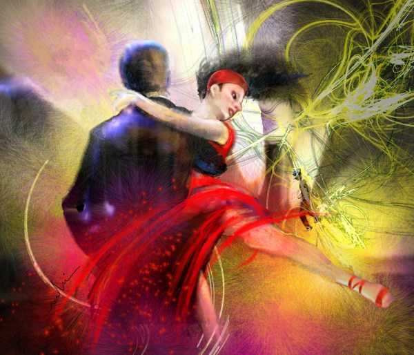 Tango Dancers Paintings