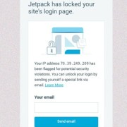 Jetpack has locked your site's login for potential security violations