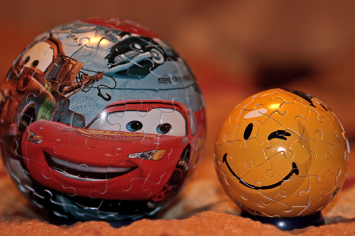 puzzle cars in smile