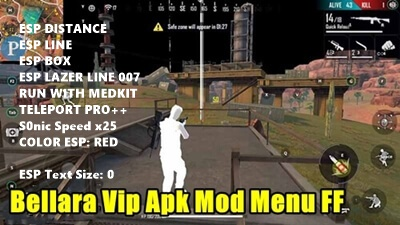 Download Bellara VIP Apk V12 Mod Menu FF Free Fire Terbaru 2020
