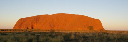 As cores do Uluru na Australia