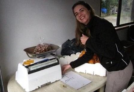 Comprando macadamias frescas na Australia
