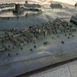 Helsingborg år 1400, en modell på plassen.