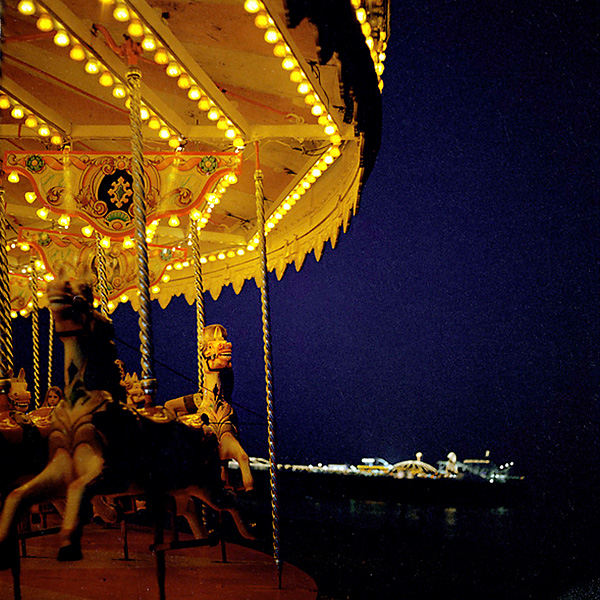 Brighton Palace Pier - Carrusel with the pier in the background