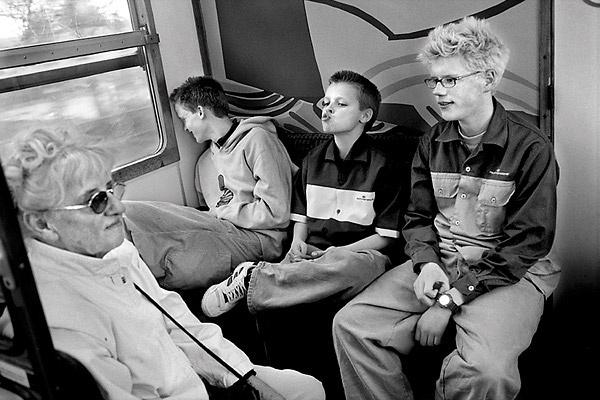 Blå Mandag - Provo i toget.