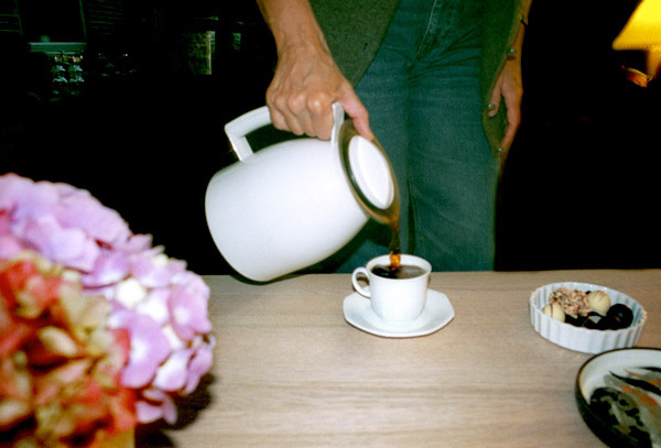 Suburbia - coffee poured