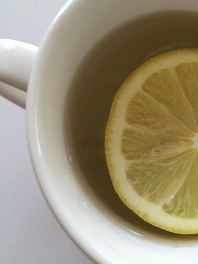 morning warm lemon water