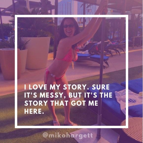 I love my story - Miko in Las Vegas in a coral bikini