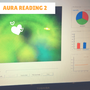 Aura reading 2 after plate (book) balancing exercise
