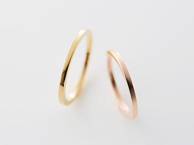細 結婚指輪
