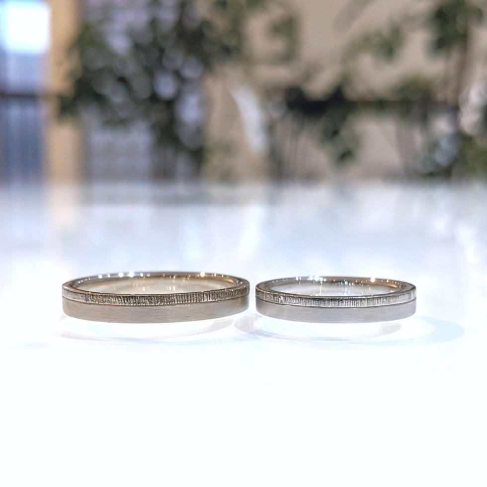 平打ち ミルグレイン 結婚指輪