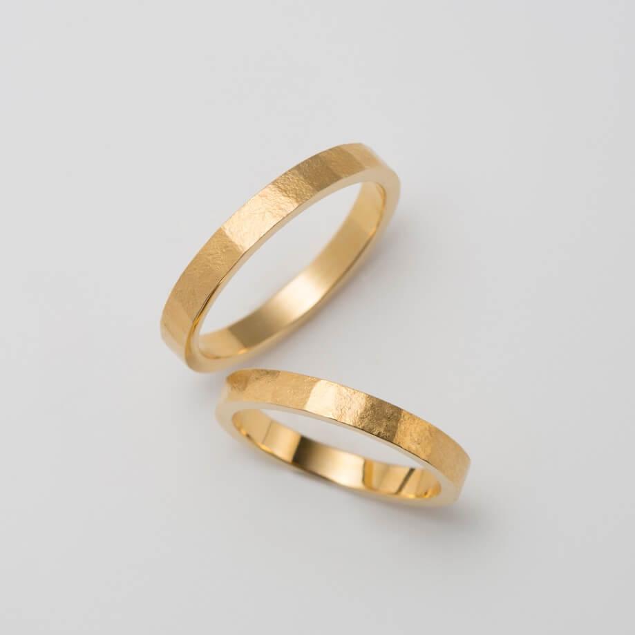 マット(つや消し)なゴールドの結婚指輪
