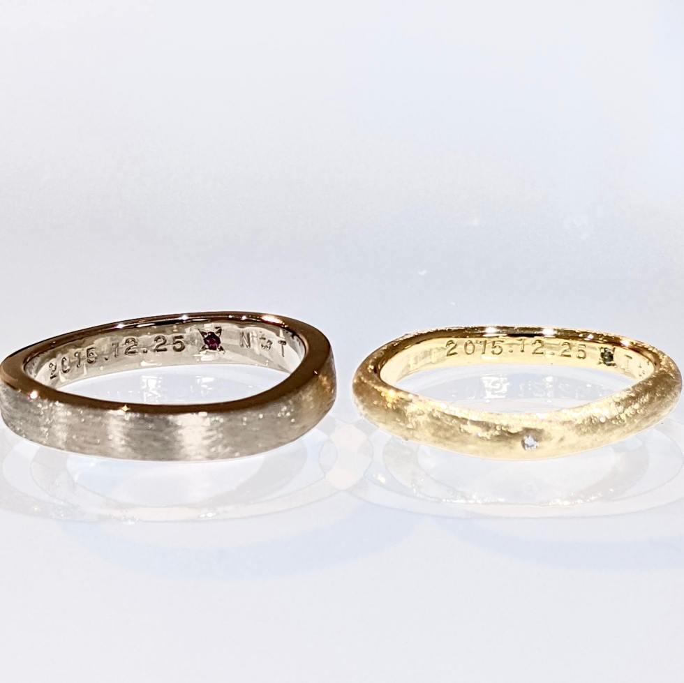 記念日を刻印した結婚指輪
