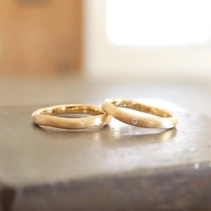 雲形の結婚指輪
