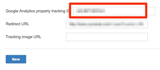 Paste tracking ID in advance settings section