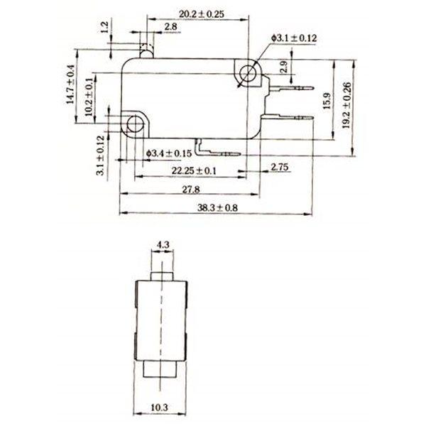 KW8 LImit Switch 3PIN AC Switch Power OR DC power Switch