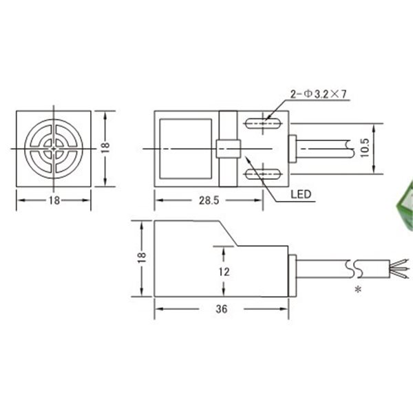 Inductive Proximity Sensor,SN04-N,NPN,3-wire NO,6-36V DC