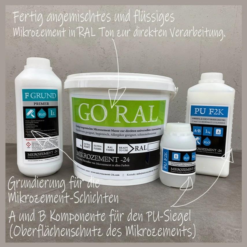 Mikrozement-24_Microzemnt_Set GORAL Bad Dusche Küche Treppe Wand Boden_erklärt