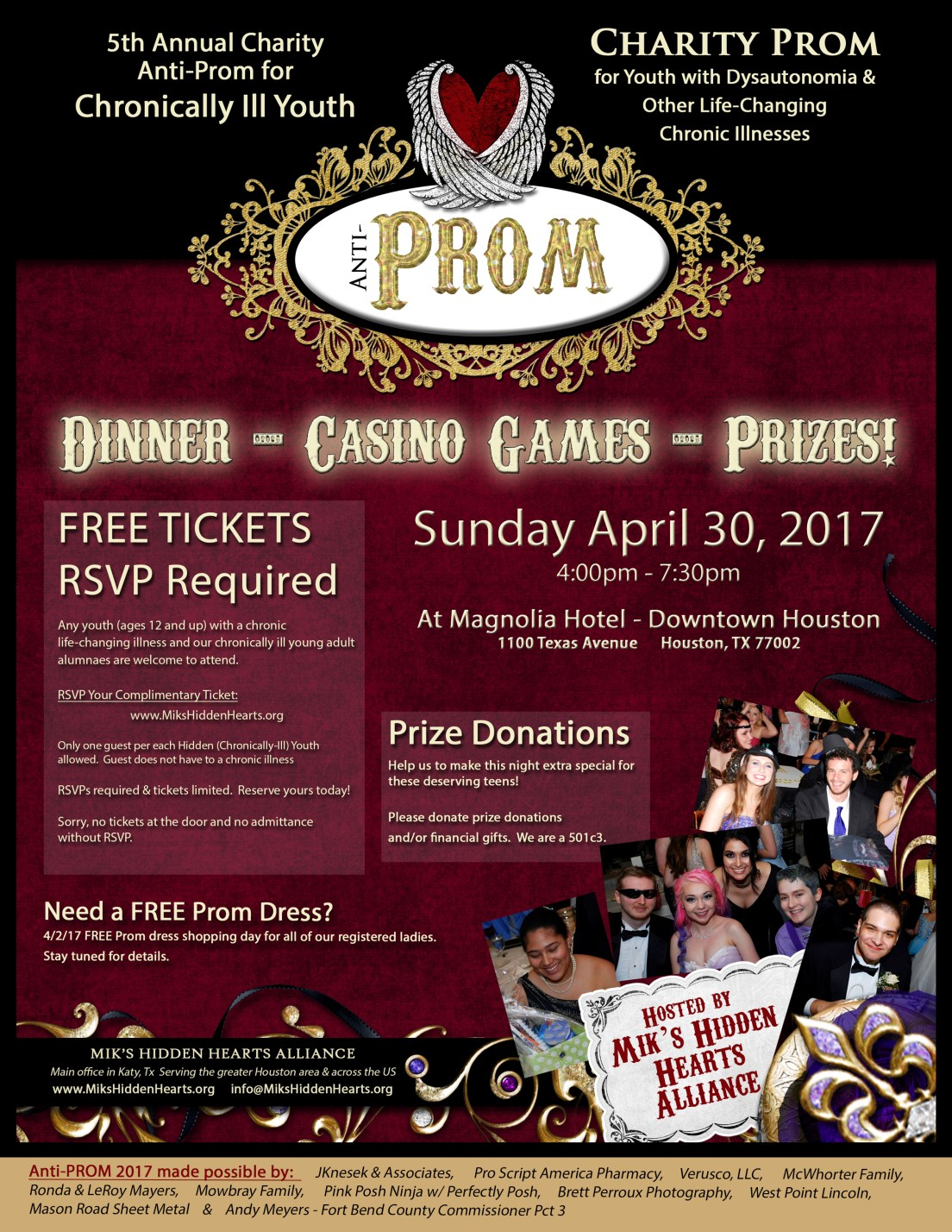 Anti-PROM Tickets...Going...Going...Almost Gone!!