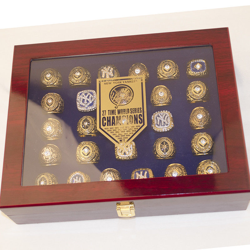 118af92e NEW YORK Yankees World Series Championship 27 Rings Set with Display ...