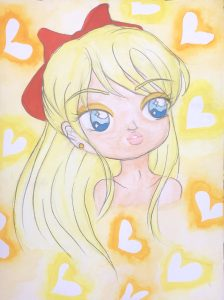 Sailor Venus Headshot Painting