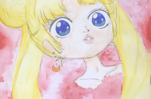 Sailor Moon Watercolor Portrait