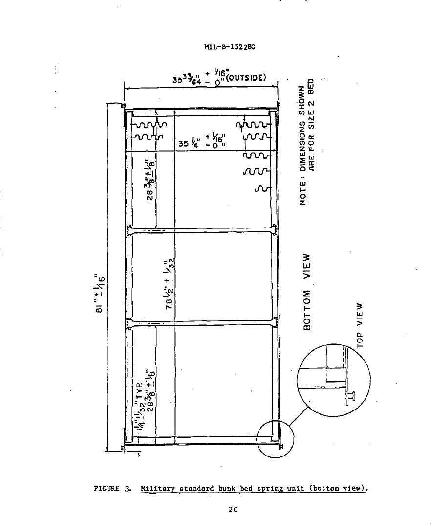 Figure 3. Military Standard Bunk Bed Spring Unit (Bottom View)