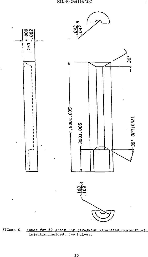 Figure 6. Sabot for 17 Grain FSP (Frangement Simulated
