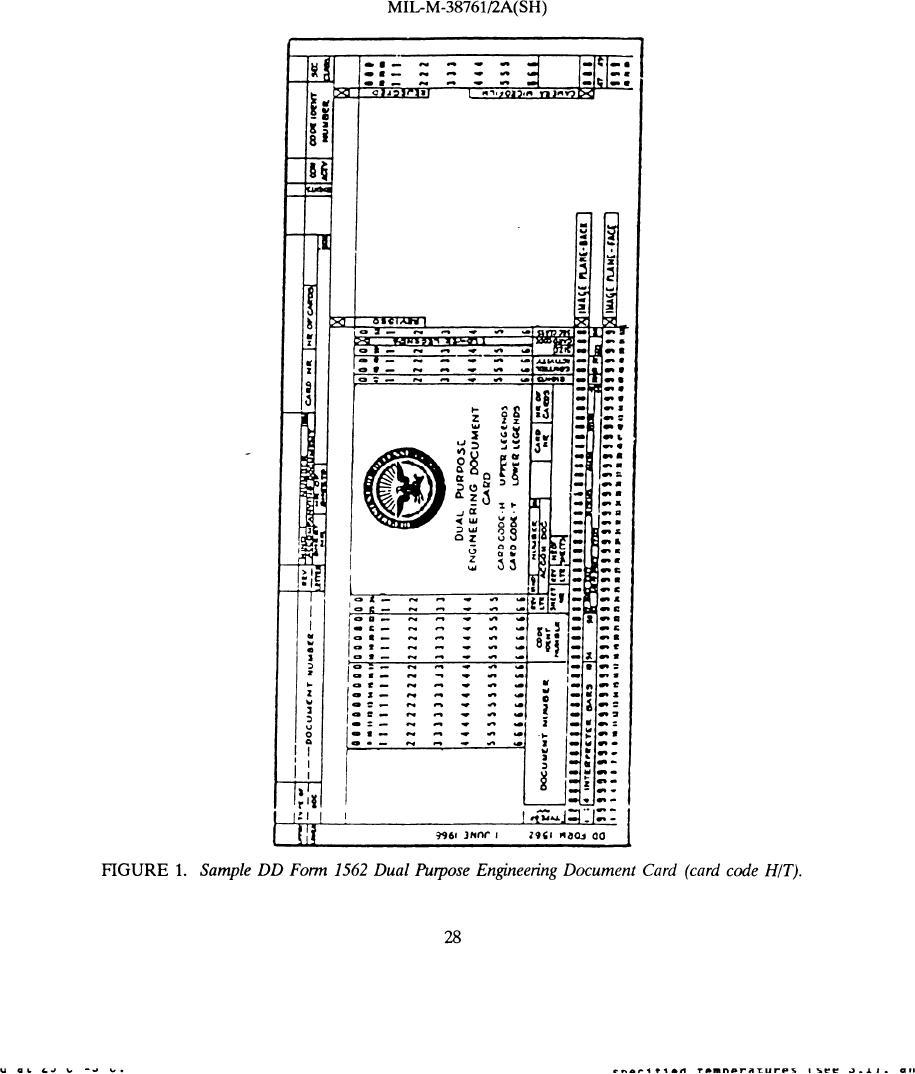 Figure 1. Sample DD Form 1562 Dual Purpose Engineering