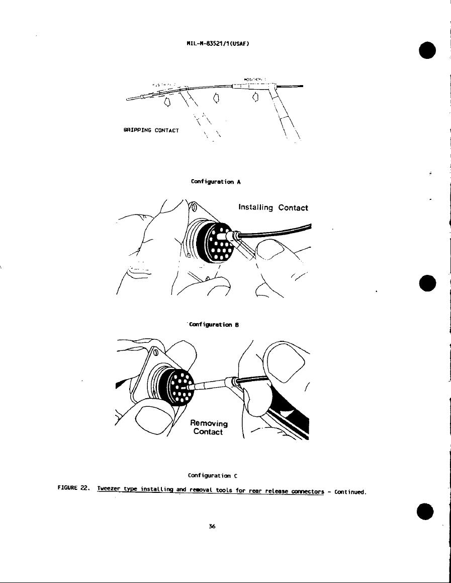 Figure 22. Tweezer type installing and removal tools for
