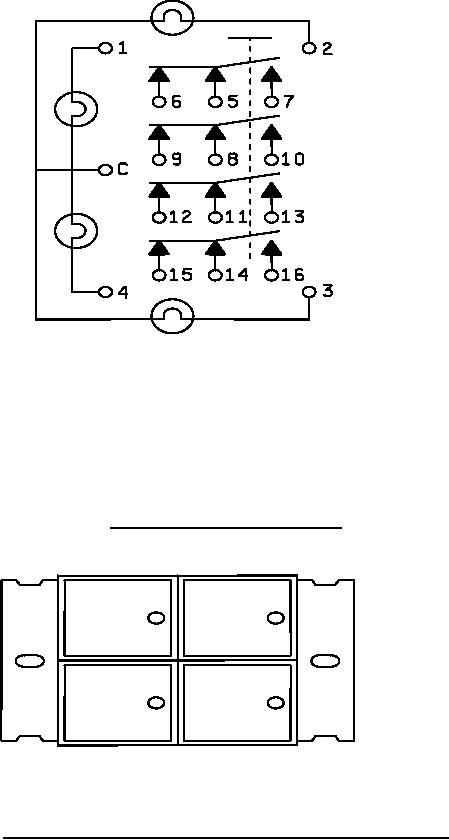 Figure 2. Lamp and 4PDT switch schematic