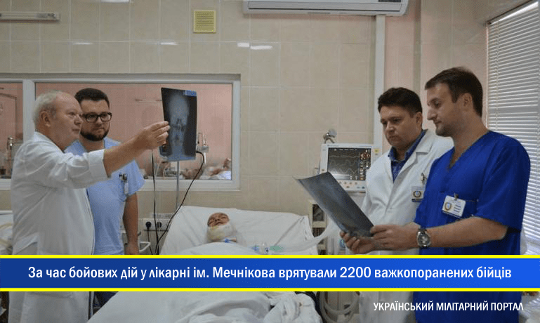 За час бойових дій у лікарні ім. Мечникова врятували 2200 важкопоранених бійців