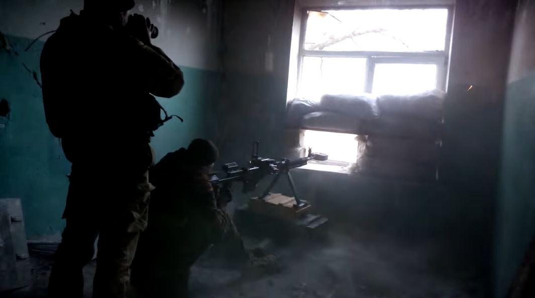 Волонтер показав відео навчань кулеметників ДШК