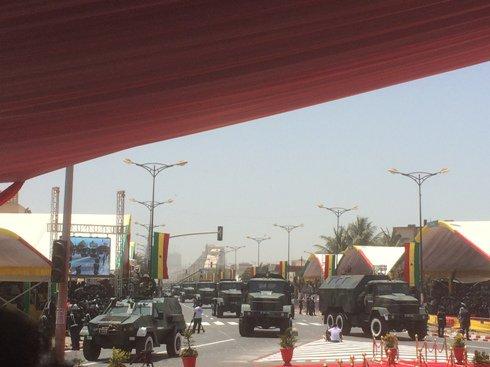 """На військовому параді в Сенегалі засвітився """"Дозор-Б"""" польського виробництва"""